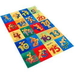 vloerkleed voor de kinderkamer, »fe-414«, felix der hase, rechthoekig, hoogte 6 mm, geprint multicolor