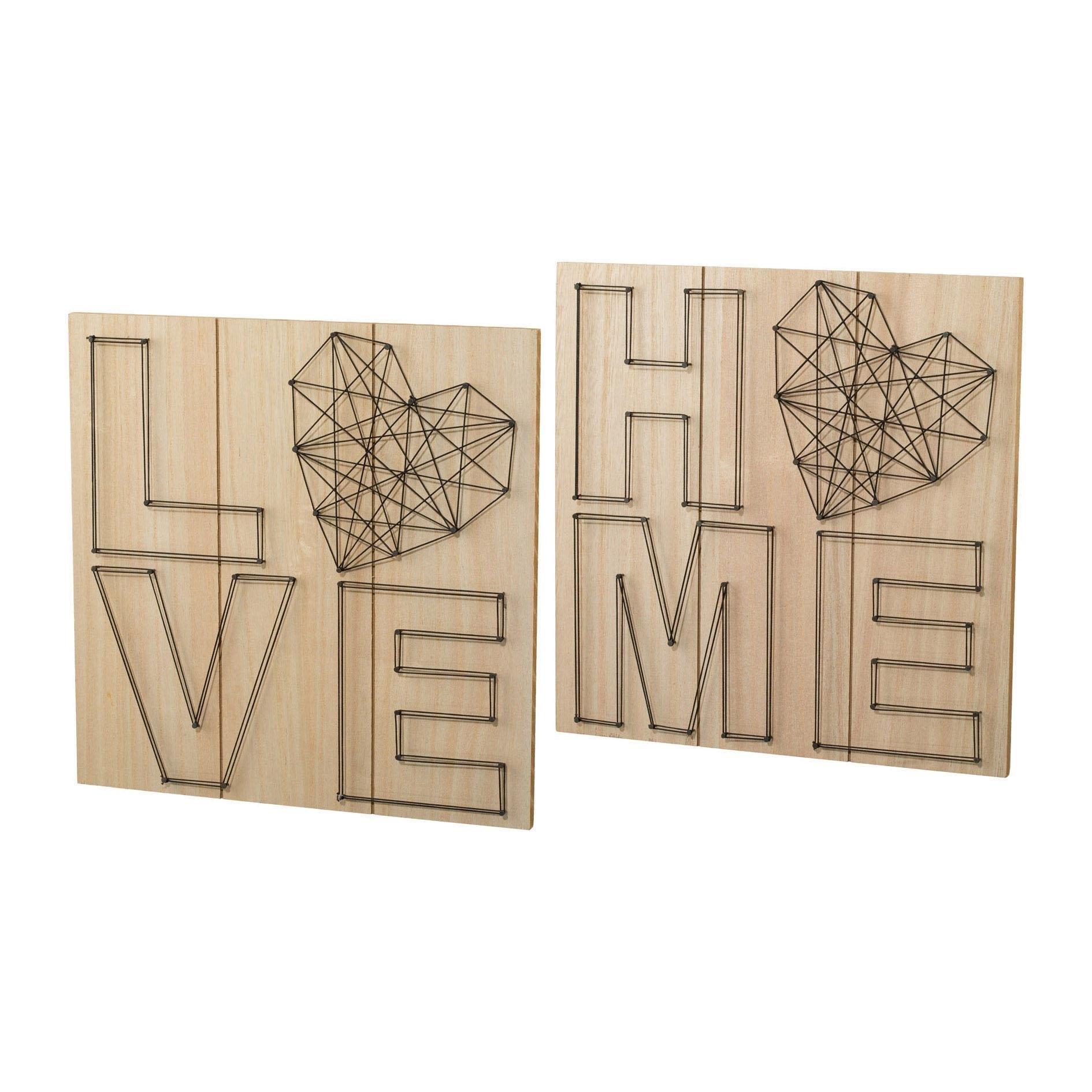 Creativ home artprint op hout Wanddecoratie, van hout, met een opschrift (set) veilig op otto.nl kopen