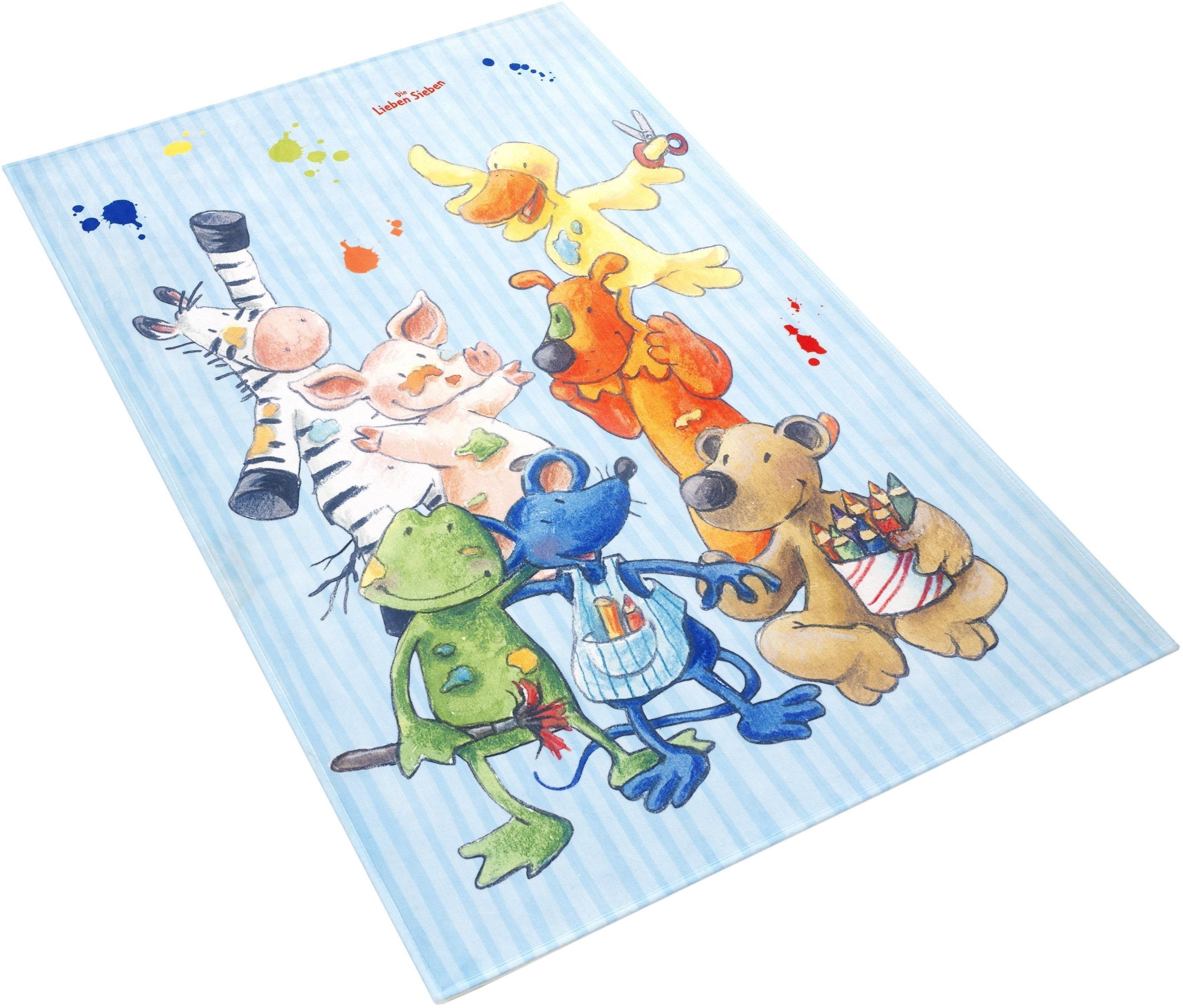 Die Lieben Sieben vloerkleed voor de kinderkamer LS-211 Stof print, zachte microvezel, kinderkamer online kopen op otto.nl