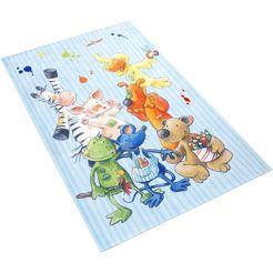 vloerkleed voor de kinderkamer, »ls-211«, die lieben sieben, rechthoekig, hoogte 6 mm, geprint multicolor