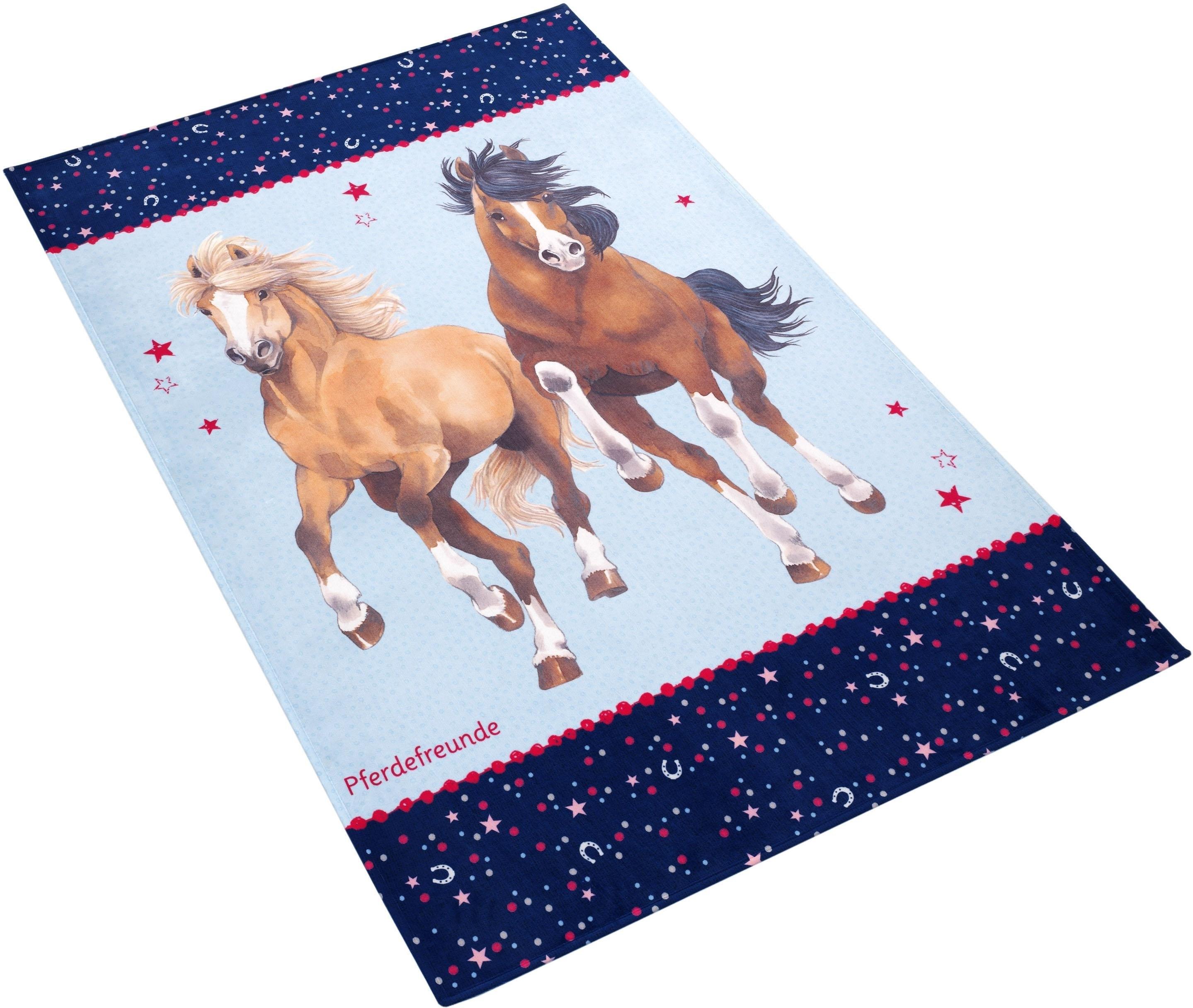Pferdefreunde Vloerkleed voor de kinderkamer, »PF-510«, rechthoekig, hoogte 6 mm, geprint nu online kopen bij OTTO