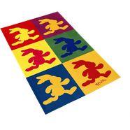 vloerkleed voor de kinderkamer, »fe-411«, felix der hase, rechthoekig, hoogte 6 mm, geprint multicolor