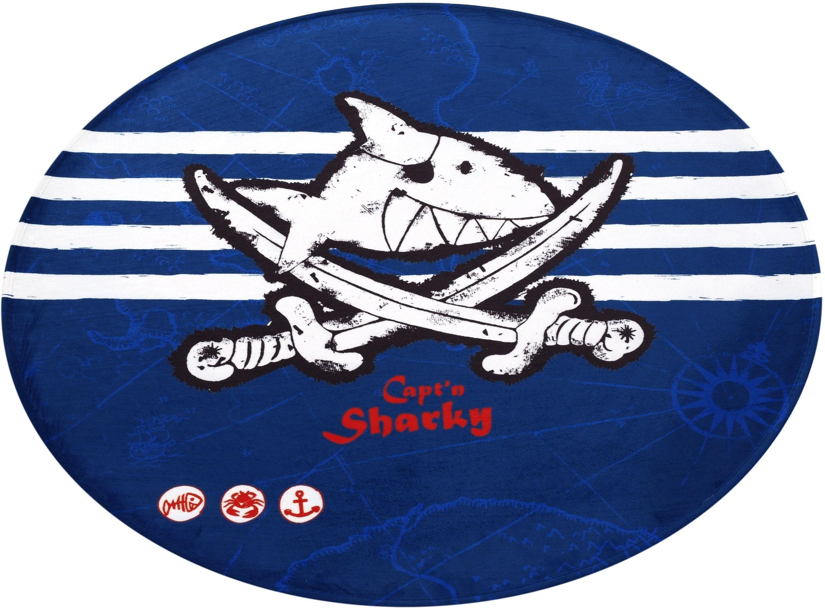 Capt`n Sharky Vloerkleed voor de kinderkamer, »SH-313«, rond, hoogte 6 mm, geprint goedkoop op otto.nl kopen