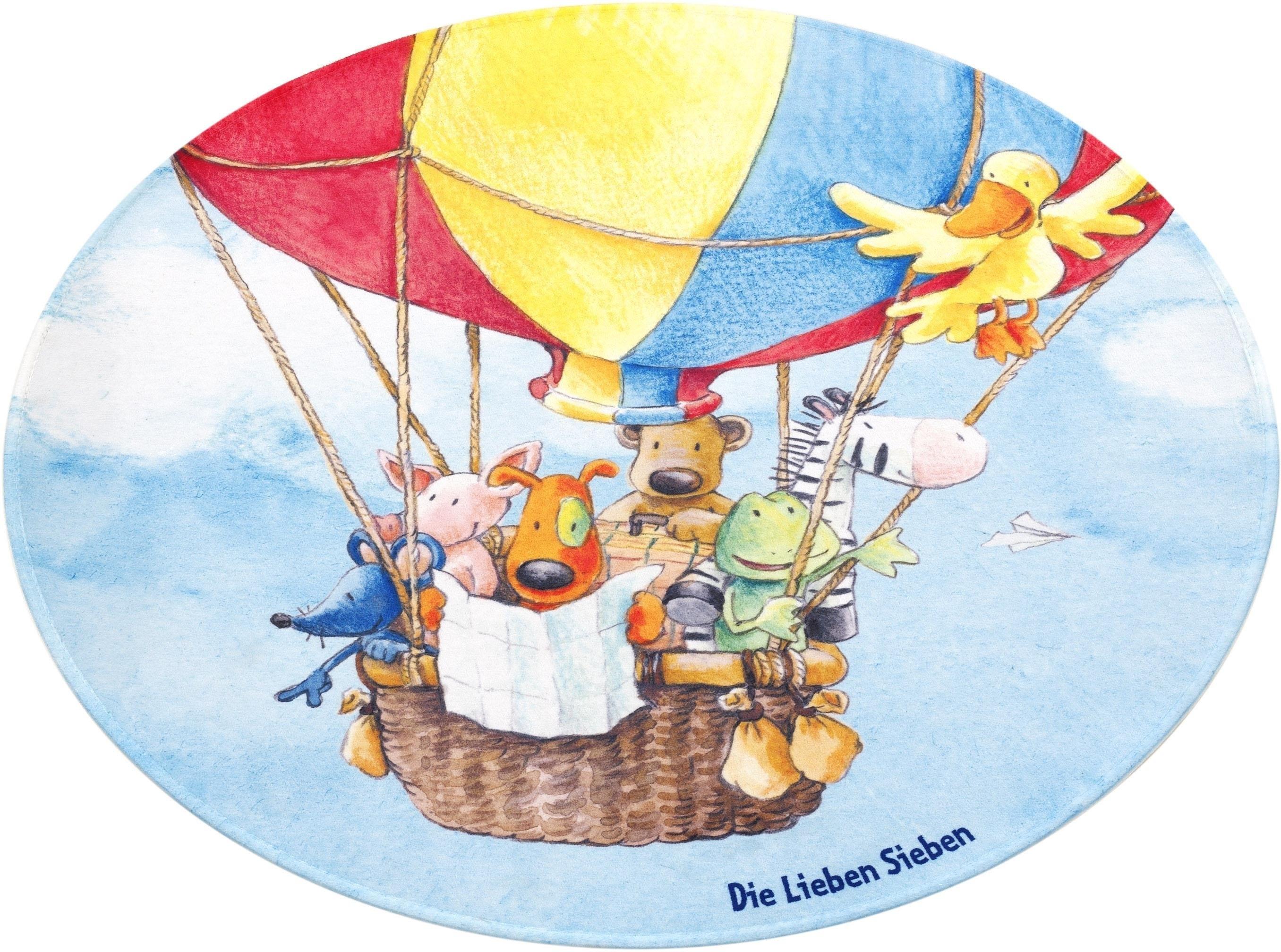 Die Lieben Sieben Vloerkleed voor de kinderkamer, »LS-212«, rond, hoogte 6 mm, geprint in de webshop van OTTO kopen