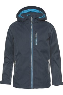 killtec softshell-jack »turner« blauw