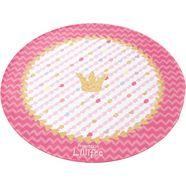 vloerkleed voor de kinderkamer, »li-113«, prinzessin lillifee, rond, hoogte 6 mm, geprint roze