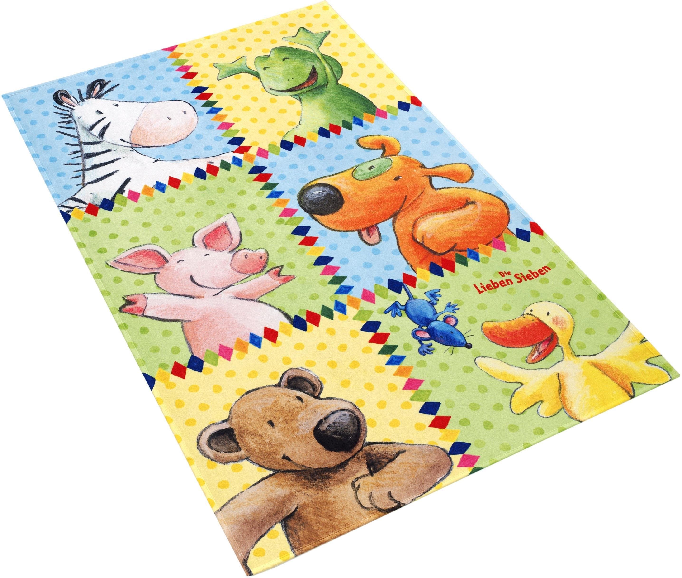 Die Lieben Sieben vloerkleed voor de kinderkamer LS-213 Stof print, zachte microvezel, kinderkamer bij OTTO online kopen