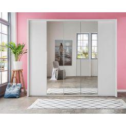 fresh to go vouw--draaideurkast met spiegels wit