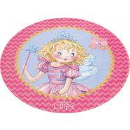 vloerkleed voor de kinderkamer, »li-110«, prinzessin lillifee, rond, hoogte 6 mm, geprint roze