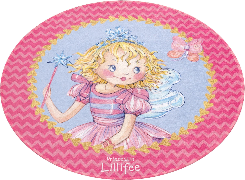 Prinzessin Lillifee Vloerkleed voor de kinderkamer, »LI-110«, rond, hoogte 6 mm, geprint nu online kopen bij OTTO