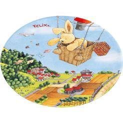 felix der hase vloerkleed voor de kinderkamer fe-415 multicolor