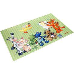 vloerkleed voor de kinderkamer, »ls-210«, die lieben sieben, rechthoekig, hoogte 6 mm, geprint multicolor