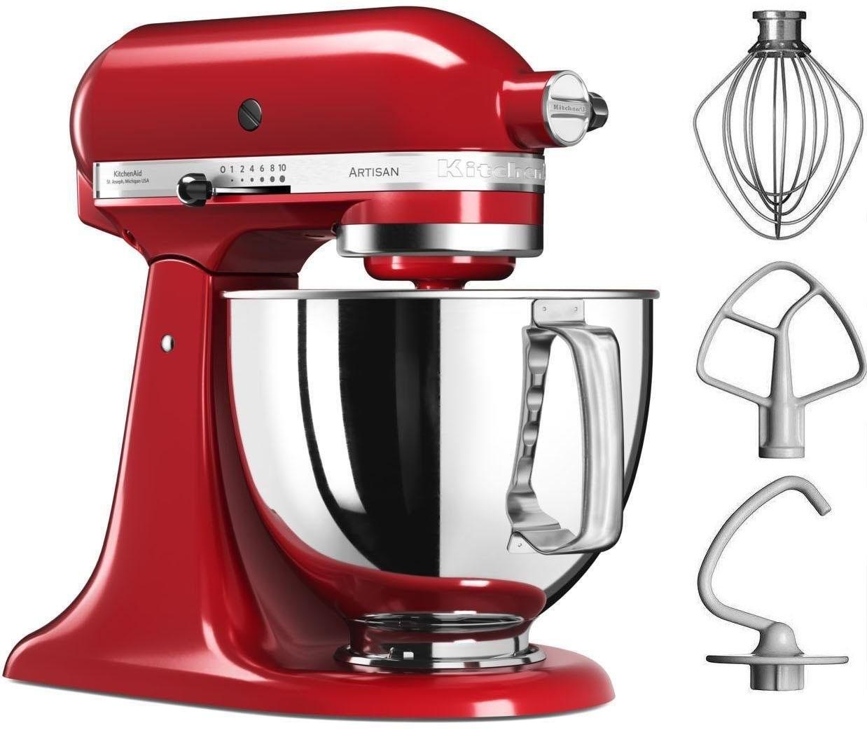 KitchenAid ® keukenmachine Artisan 5KSM125EER, 4,8 liter, 300 W, empire-rood nu online bestellen