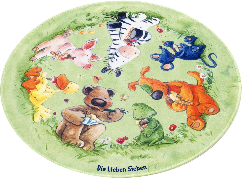 Die Lieben Sieben Vloerkleed voor de kinderkamer, »LS-214«, rond, hoogte 6 mm, geprint - verschillende betaalmethodes