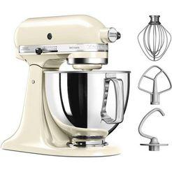 kitchenaid  keukenmachine artisan 5ksm125eac, 4,8 liter, 300 w, crème beige
