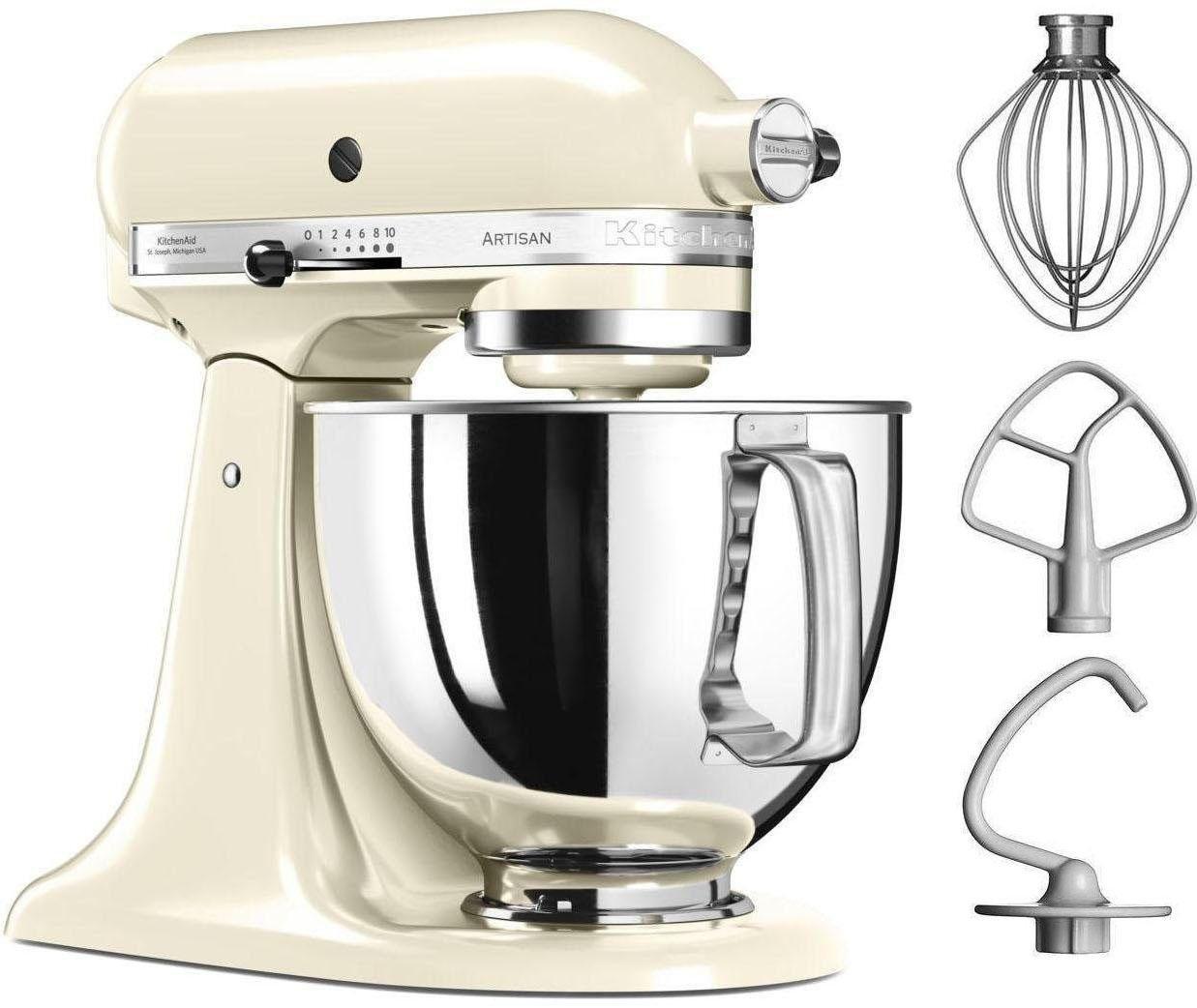 KitchenAid ® keukenmachine Artisan 5KSM125EAC, 4,8 liter, 300 W, crème bij OTTO online kopen