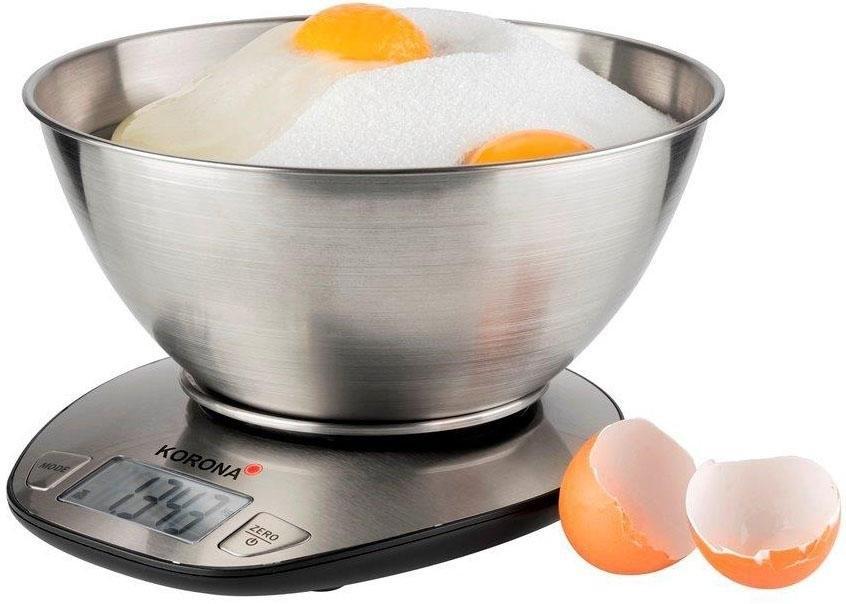 KORONA digitale keukenweegschaal Mila 75880, edelstaal met mengkom bij OTTO online kopen