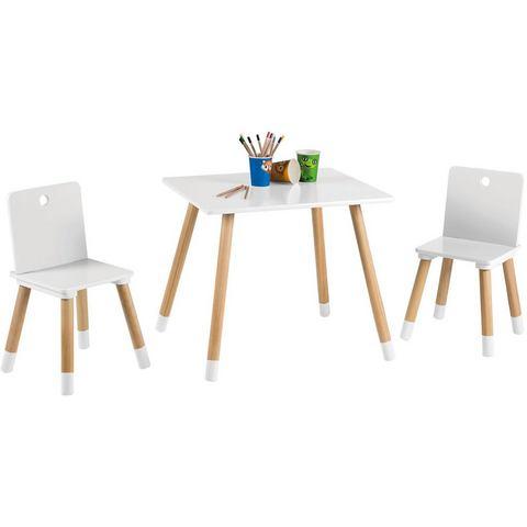 Roba tafel en stoelen voor kinderen, Kinderzithoek, wit