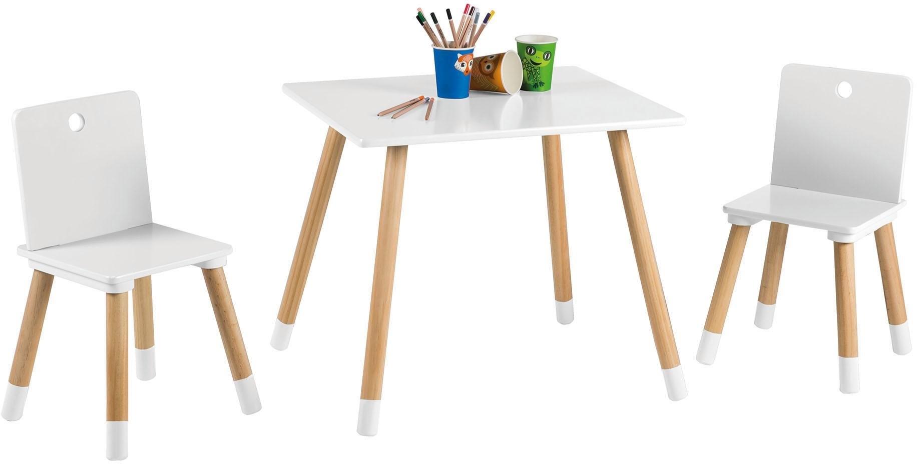 Roba tafel en stoelen voor kinderen »kinderzithoek wit« online