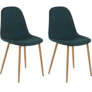 stoel, weefstof (set van 2 of 4) groen