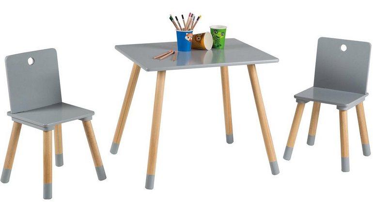 Roba tafel en stoelen voor kinderen »kinderzithoek grijs« online
