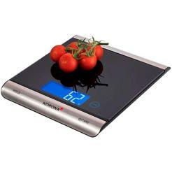 korona digitale keukenweegschaal finja 70230, keuken--pakjesweegschaal 15 kg zwart