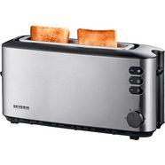 severin toaster »at 2515«, voor 2 sneetjes, 1000 w zilver