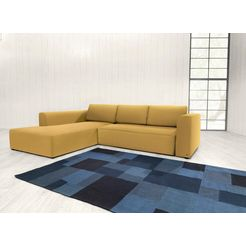 tom tailor hoekbank xl »heaven style colors«, naar keuze met slaapfunctie en bedkist geel