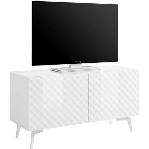 bruno banani tv-meubel Design 1, met 3D-fronten (hoogglans), in 2 breedten