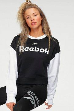 reebok sweatshirt »te linearlogo fashion« zwart