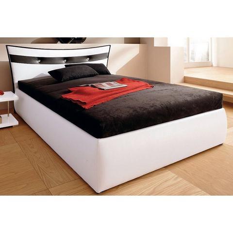 Bed micro velours in 4 verschillende uitvoeringen Bonell binnenveringsmatras wit Hapo 305802