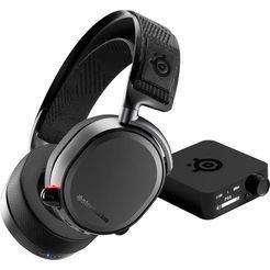 steelseries »arctis pro wireless« gaming-headset (wifi, bluetooth, hi-res, microf. aan buitenkant) zwart