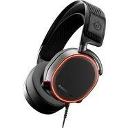steelseries »arctis pro« gaming-headset (via een vaste verbinding, hi-res, microf. aan buitenkant) zwart
