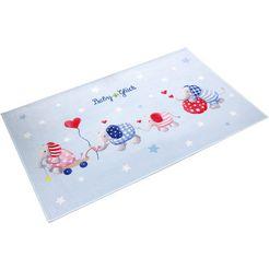 vloerkleed voor de kinderkamer, »babyglueck 713«, babyglueck, rechthoekig, hoogte 6 mm, geprint blauw