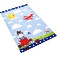 vloerkleed voor de kinderkamer, »babyglueck 710-11«, babyglueck, rechthoekig, hoogte 6 mm, geprint blauw