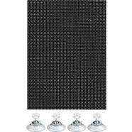 gardinia zonwerende raamfolie flexibele zonwering met zuignapjes verblinding en hittebescherming (1 stuk) zwart