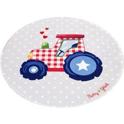 vloerkleed voor de kinderkamer, »babyglueck 712«, babyglueck, rond, hoogte 6 mm, geprint multicolor