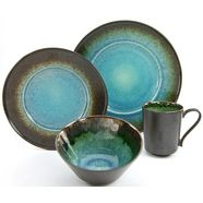 creatable combi-servies 'iris', aardewerk' (16-delig) blauw