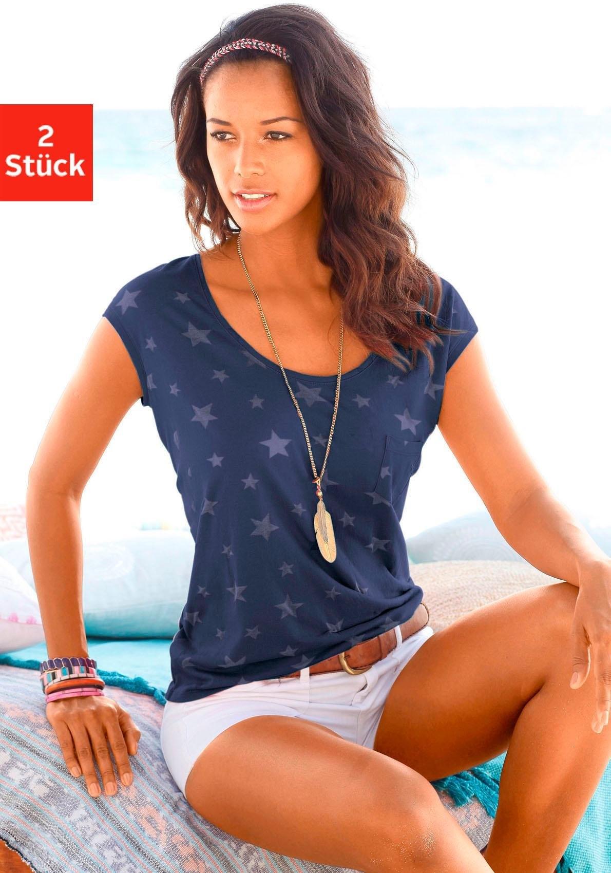 beachtime T-shirt in set van 2 goedkoop op otto.nl kopen