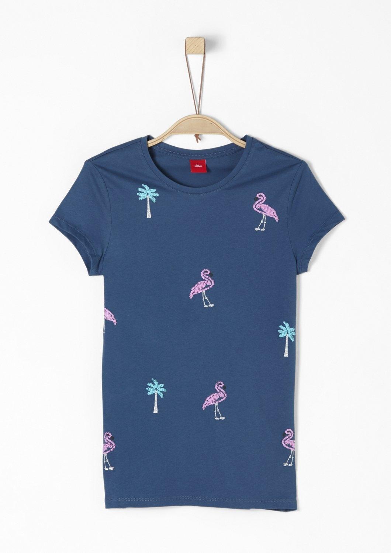 S.oliver Red Label Junior Jersey shirt met een rubberen print voor meisjes bij OTTO online kopen