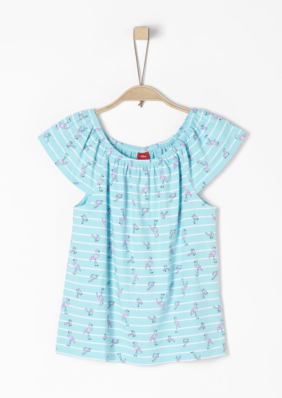 S.oliver Red Label Junior Off-shoulder shirt met print voor meisjes - gratis ruilen op otto.nl