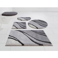 badmat »reno«, grund exklusiv, hoogte 20 mm, met antislip-coating, geschikt voor vloerverwarming grijs