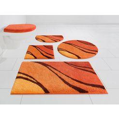 badmat »reno«, grund exklusiv, hoogte 20 mm, met antislip-coating, geschikt voor vloerverwarming oranje