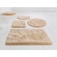 badmat »melos«, grund exklusiv, hoogte 27 mm, met antislip-coating beige