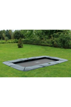 exit trampoline »supreme ground level«, bxd: 244x427 cm, grijs grijs