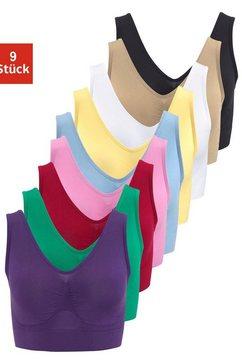 slimmaxx bh zonder beugels super-beha in bustier-model (set, 9 delig) multicolor