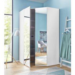 fresh to go hoekkledingkast »lucca«, met spiegeldeuren wit