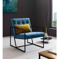 places of style fauteuil »lounge-chair« blauw