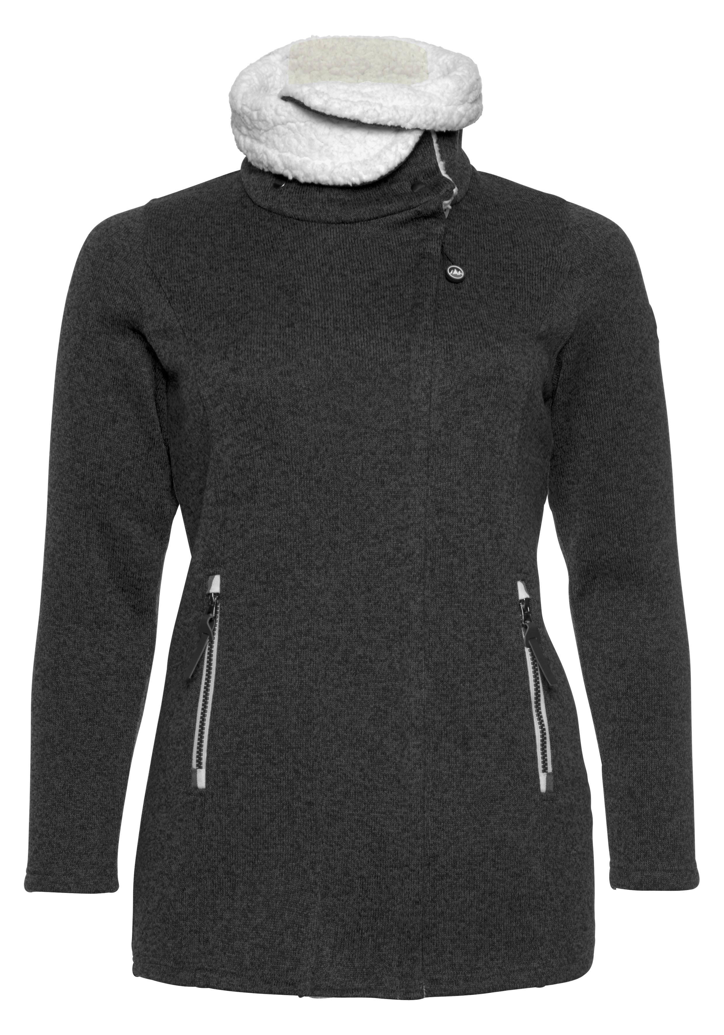 Polarino tricot-fleecejack nu online kopen bij OTTO