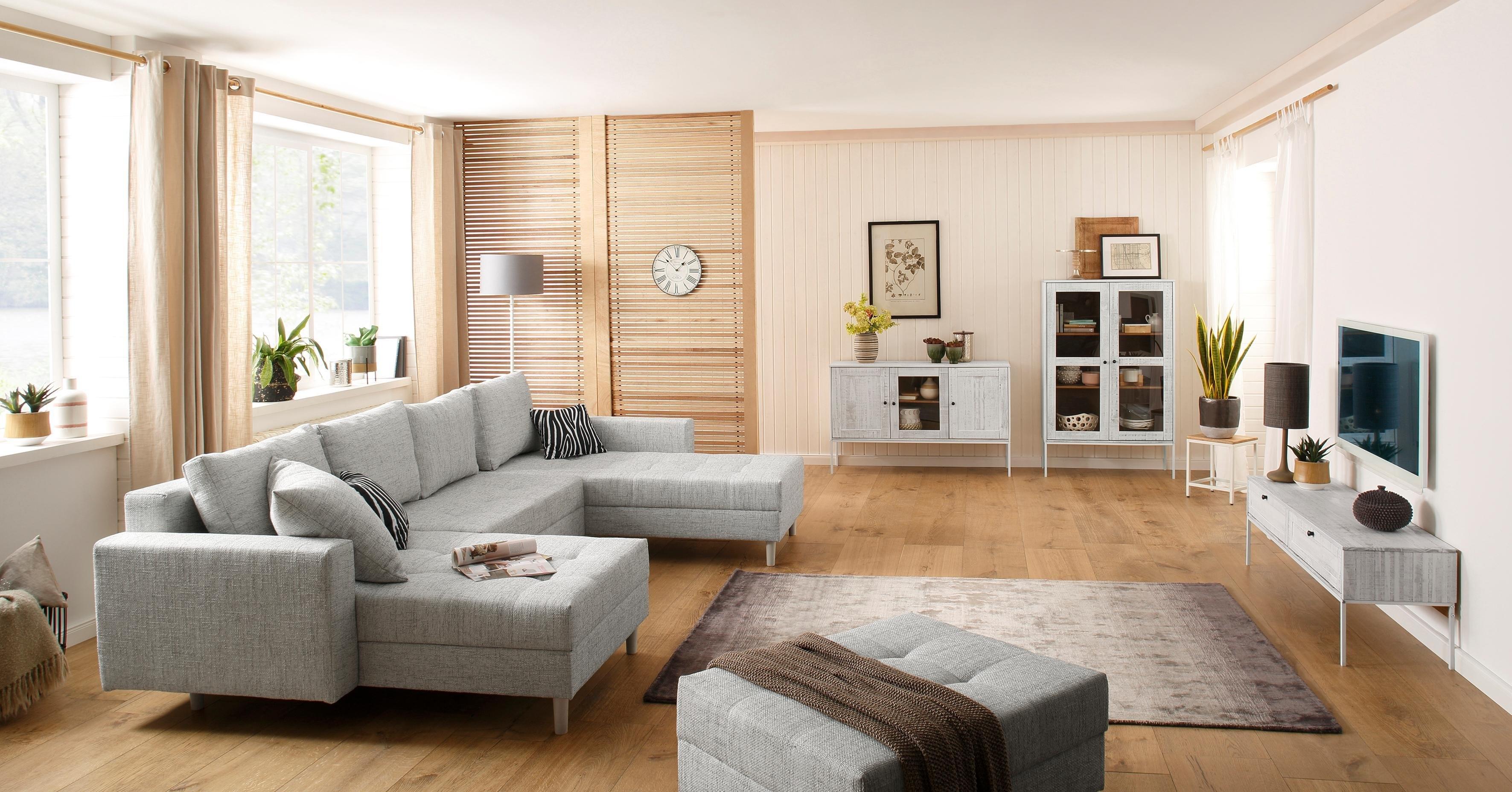 Meubels Massief Hout : Home affaire tv meubel »freya« met 2 kleppen metalen handgrepen